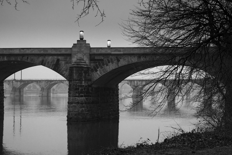 Market Street Bridge - Susquehanna River - Harrisburg, Pennsylvania - fine art photography