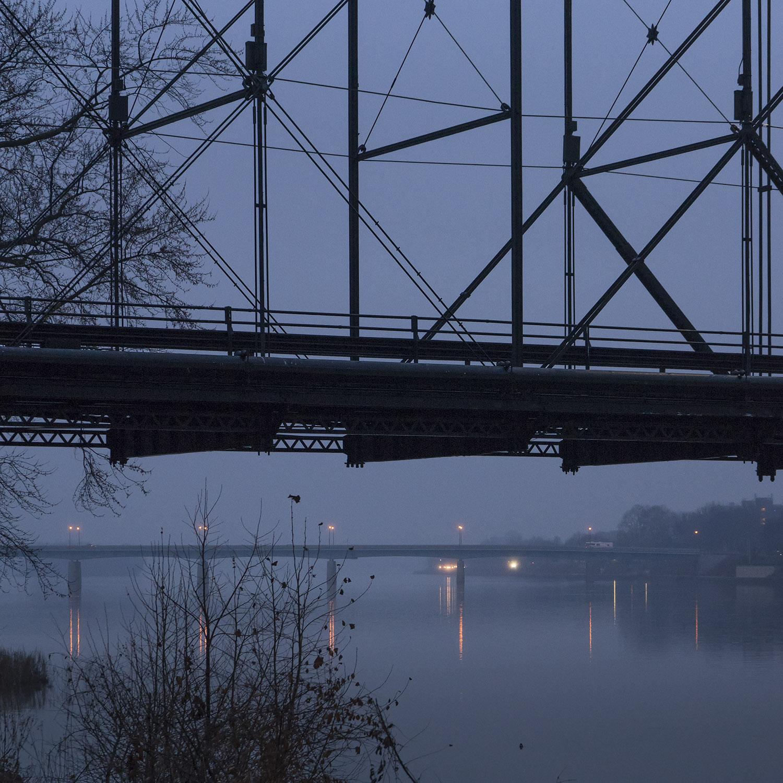 Walnut Street Bridge - Susquehanna River - Harrisburg, Pennsylvania - fine art photography