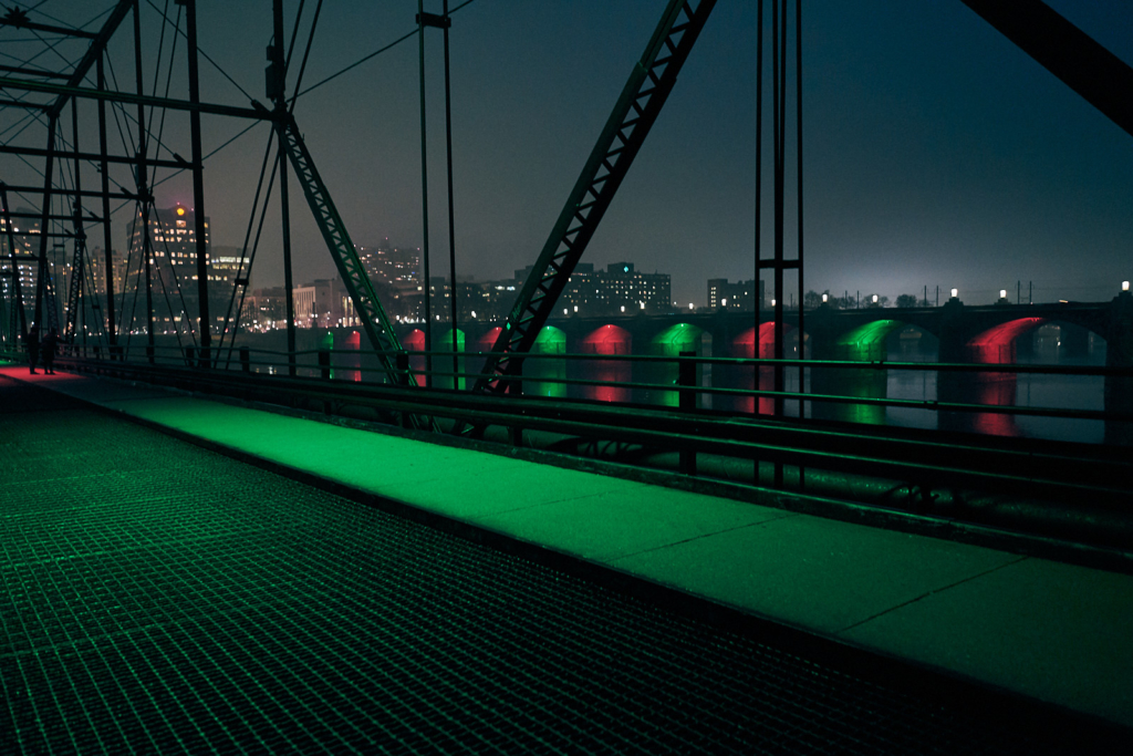 Walnut Street Bridge & Market Street Bridge - Harrisburg, Pennsylvania - fine art photography
