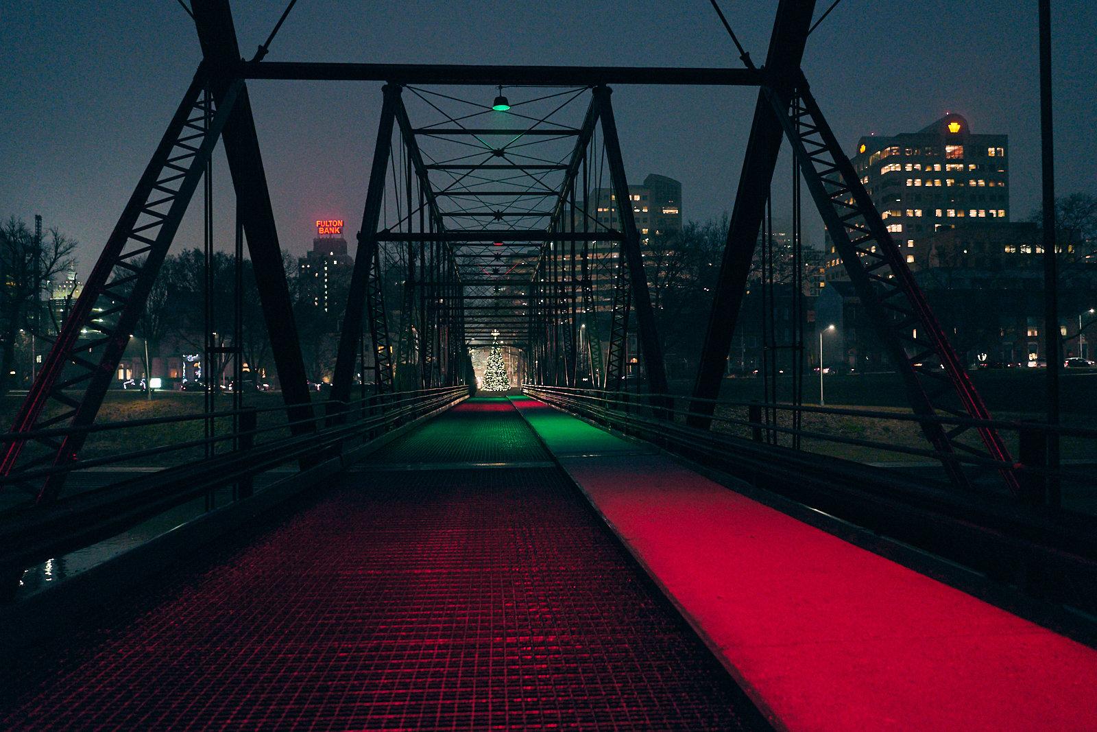 Walnut Street Bridge at Night - Harrisburg, Pennsylvania - fine art photography