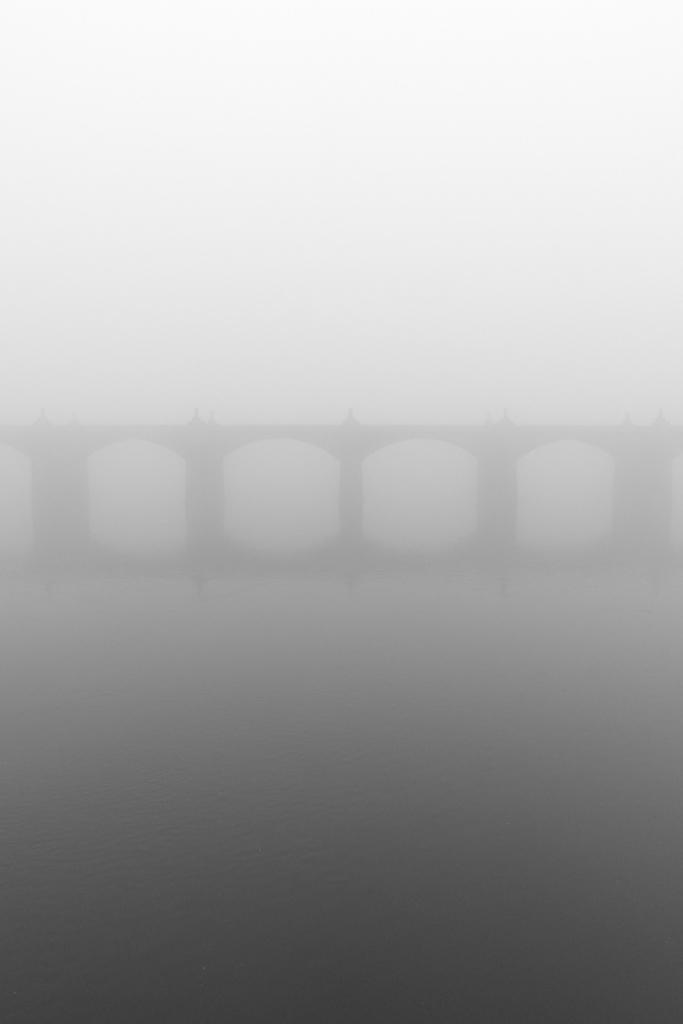 Market Street Bridge in the Fog - Harrisburg, Pennsylvania