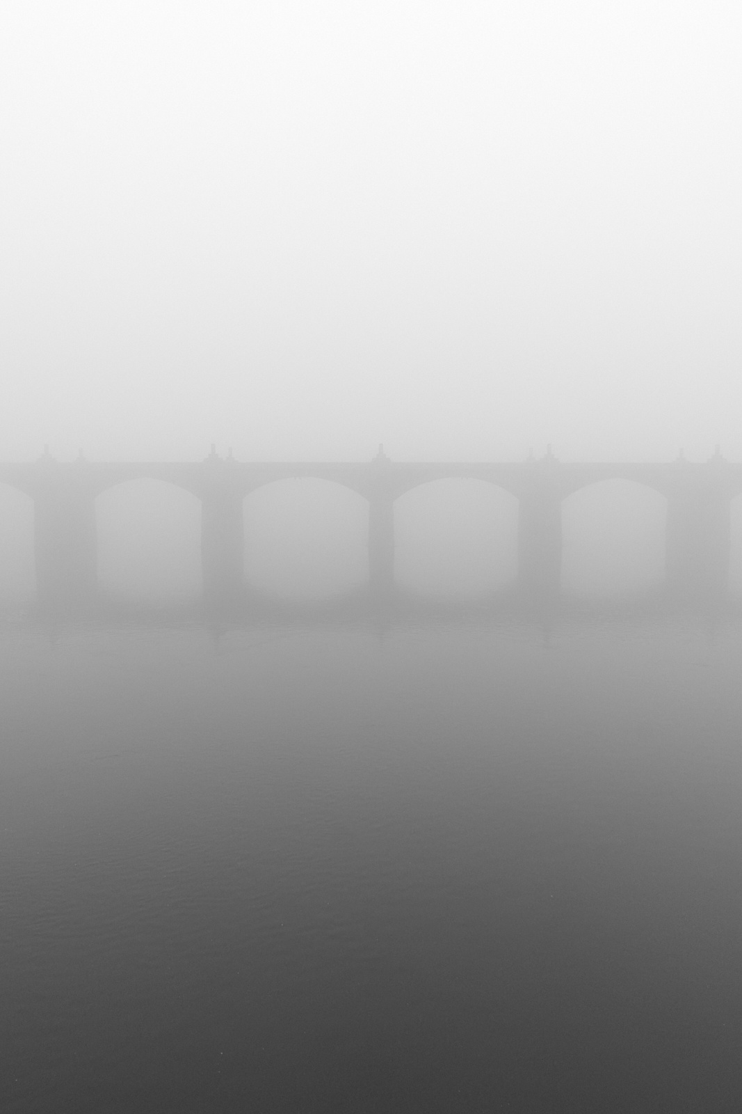 Market Street Bridge in the Fog - Harrisburg, Pennsylvania