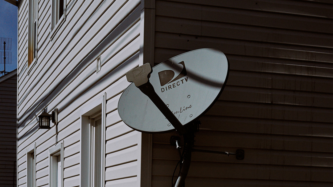 Satellite Dish in Mechanicsburg, Pennsylvania, street photography