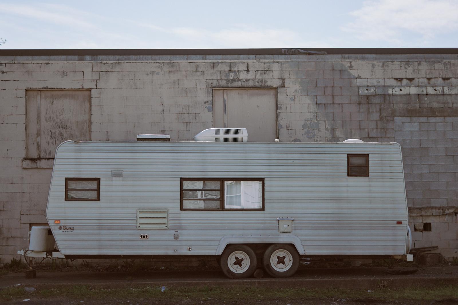 RV, travel trailer, Mechanicsburg, Pennsylvania, street photography
