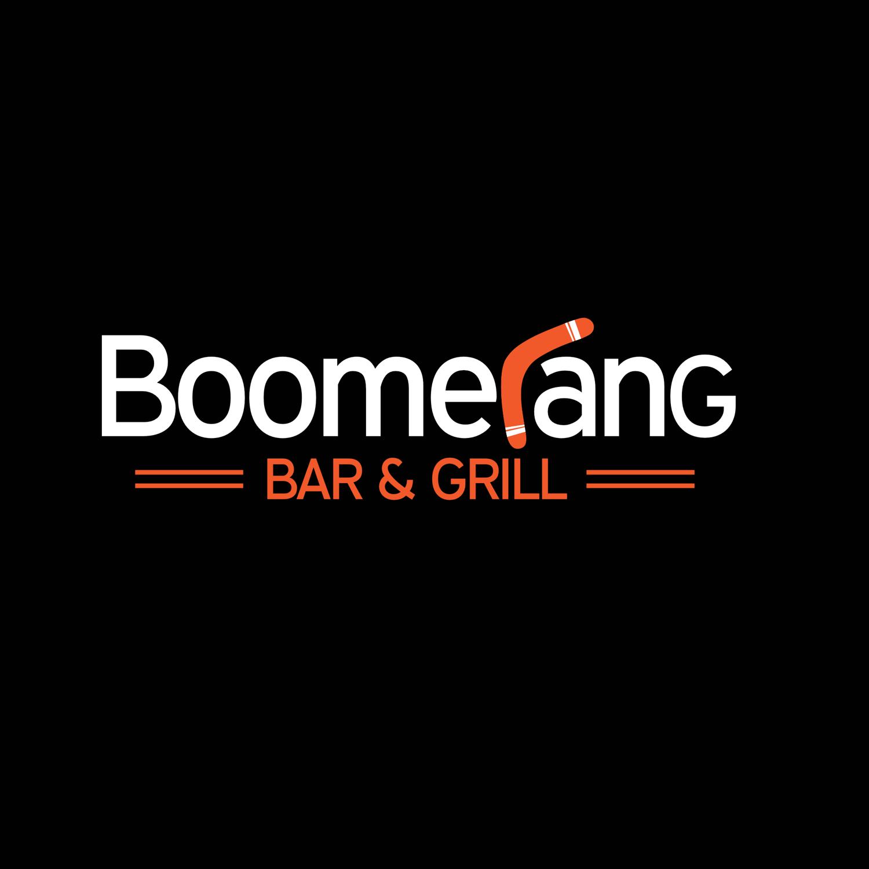 Boomerang Bar & Grill, New Cumberland, Pennsylvania, custom logo design